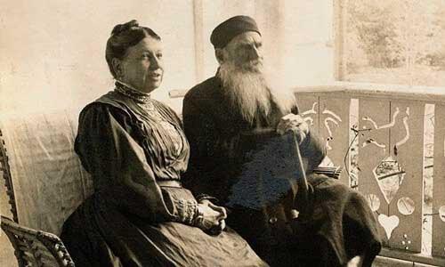 رابطه ی عجیب لئو تولستوی و همسرش