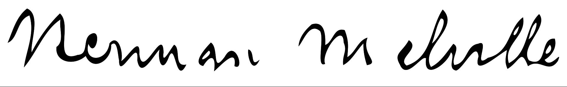 امضای هرمان ملویل