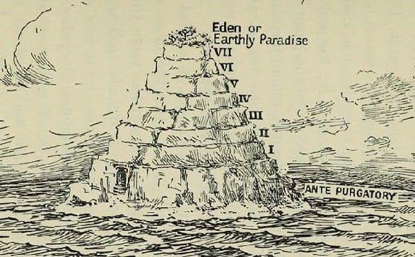 نمایی از برزخ توصیف شده توسط دانته